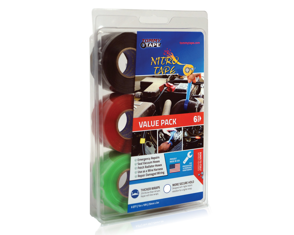 Tommy Tape Self Fusing Silicone Nitro 6 Pack Automotive Wire Harness Wrapping Store